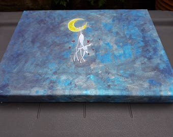 The Moonbeam on Canvas