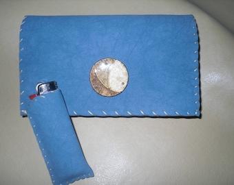 tobacco pouch, faux blue effect