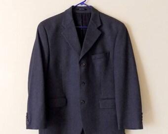 80s Gray Mens Sports Jacket by Chaps Ralph Lauren for Filenes Size 38W 29L