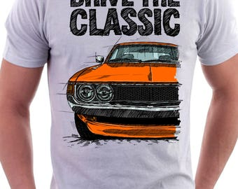 Classic Toyota Celica 1gen. Early Models. T Shirt White. Original Hand Drawn
