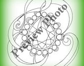 PDF Faceted Drop Coloring page