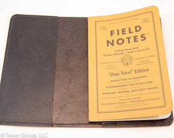 Field Notes Dime Novel/Signature Cover - Horween Leather - Black