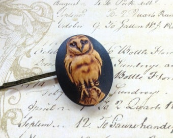 Antique Owl Hair Clip