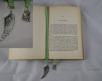 Page004 - Green and white Plaid Ribbon bookmark