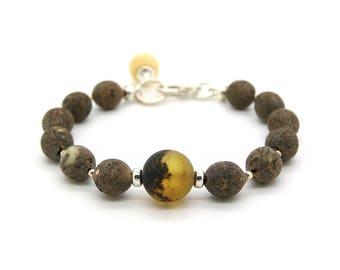 Raw Amber Bracelet - Beaded Amber Bracelet - Genuine Amber Bracelet - Natural Amber Bracelet - Raw Baltic Amber - Baltic Amber Jewelry -379