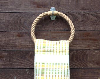 Rope Towel Ring-handmade - natural hemp rope- for bathroom or kitchen