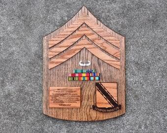 Handmade Military Going Away Plaque