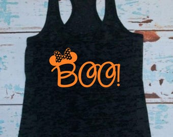 minnie boo t shirt or tank top mickeys not so scary halloween party - Scary Halloween Shirts