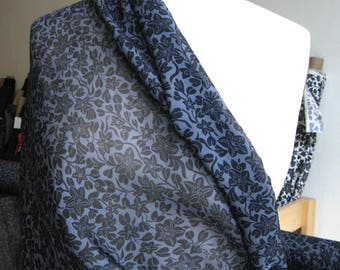 Silk Chiffon Victorian Floral Print Fabric from Designer Vince