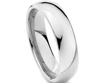 Stainless Steel Wedding Ring, Silver Wedding Band, Men's Ring, Women's Ring, 6mm Stainless Steel Ring, Sizes 5-15 w/ half sizes!
