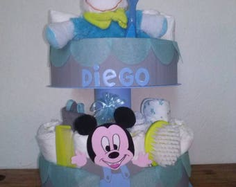 Customizable 2 story diaper cake