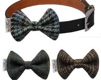 Genuine Harris Tweed Designer Dog Bow Tie