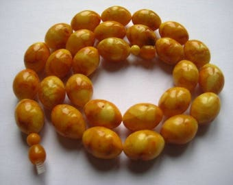 41g Butterscotch Necklace Bernsteinkette baltic amber Bernstein 老琥珀 Collier