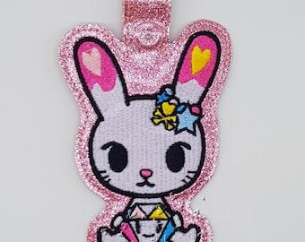 Tokidoki Bunny Diamante bag tag