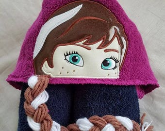 Kids Hooded Towel,Princess Hooded Towel For Kids,Girls Personalized Hooded Towel,Child's Hooded Towel,Birthday Gift for Kids,Kids Towel