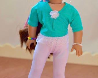 American made girl doll clothes tunic Capri pants