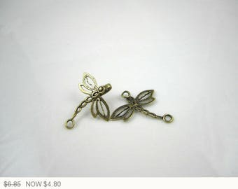 ON SALE Antique Brass Dragonfly Clasp Brass Jewelry Making Dragonfly Clasps Antique Brass Jewelry Finding Clasp 38mm (1pc) 42MV3