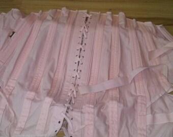 Vintage 1930's or 1940's spencer corset,  under bust,peach girdle,vintage shareware, fetish corset