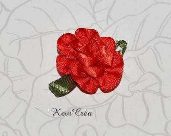 4 x flower satin ribbon fabric