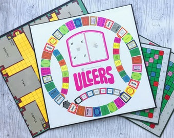Vintage game boards: Ulcers, Scrabble or Cluedo, 4 boards to select from for arts and crafts or as a spare. Listing is for 1 board.