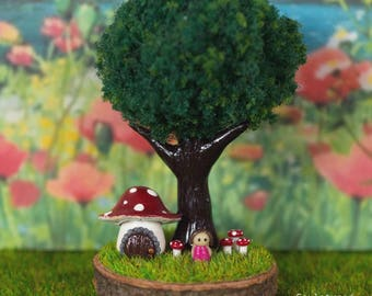 Miniature Fairy House Polymer Clay Forest Scenes