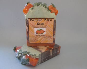Pumpkin, Pumpkin Pie, Handmade, Bar Soap, Handcrafted, Artisan Soap, Melt and Pour, Pumpkins, Fall Scent, Great Gifts, Moisturizing, Soap