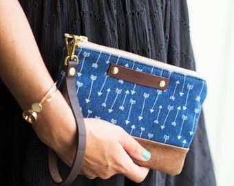 clutch, leather clutch, leather purse, leather bag, leather wristlet, wristlet purse, boho bag, leather handbag
