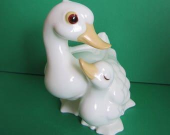 Royal Osborne White Bone China Duck and Duckling