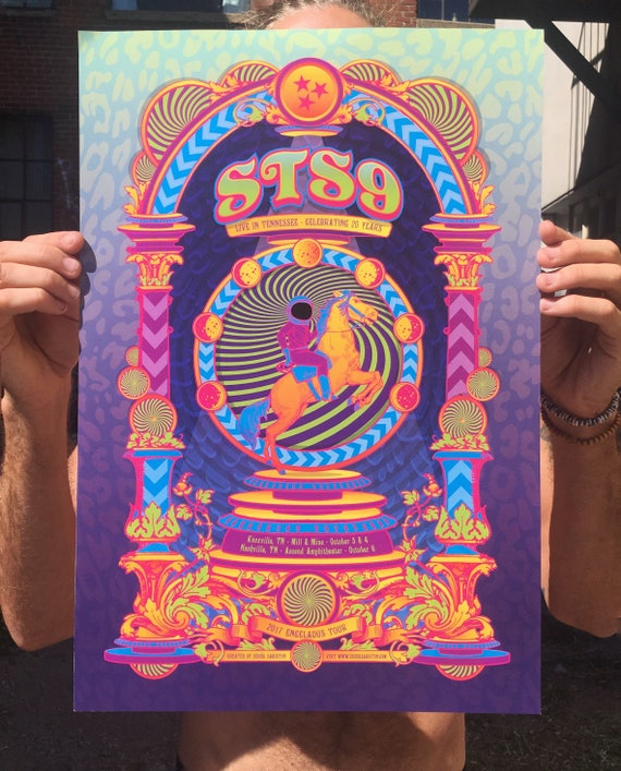 STS9 Fall 2017 Tennessee Run Poster Enceladus Tour Print
