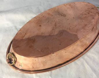 Copper Au Gratin Antique Pan From France