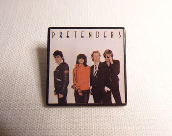 BIG Vintage 80s The Pretenders - Self-titled Debut Album (1980) Pin / Button / Badge