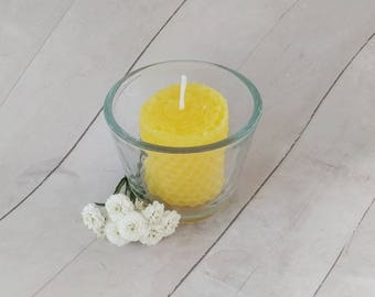 Joy Candle, Beeswax Candle, Energy Candle, Organic Candle, Intention Candle,  Unscented, Eco-friendly, Votive, Reiki Candle, Spiritual
