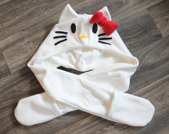Hello Kitty Inspired Scoodie Spirithood Scarf