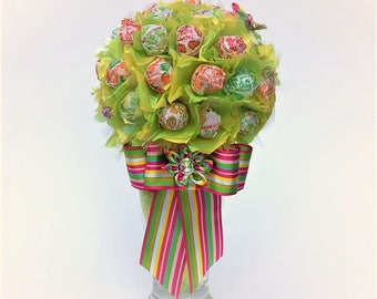 Lollipop Bouquet Lollipop Tree Lollipop Malt Dum-Dums Candy Bouquet Candy arrangement Birthday gift Mother's Day gift Baby Shower gift