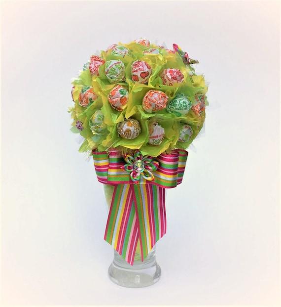 Lollipop bouquet tree malt dum dums candy
