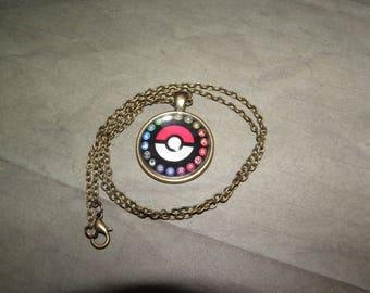 Necklace Bronse Pokemon Go Cabochon 50 Cm