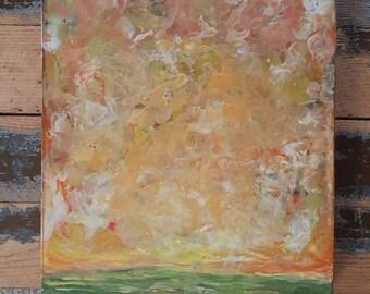 Soft Layers - encaustic landscape