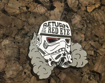 Return Of The Red Eye Storm Trooper Hat Pin