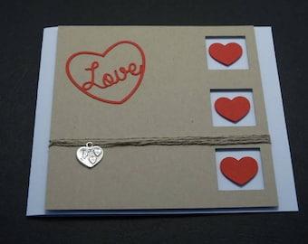 Love Valentine's Day card - heart theme