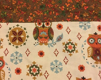 Owls Vintage Print Standard Pillowcase