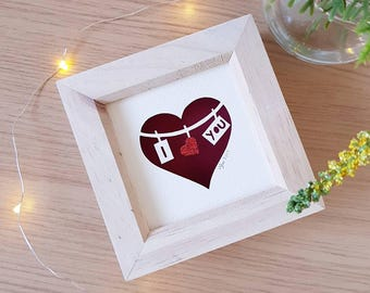 Valentine's day, first anniversay gift, papercut, papercutting, keepsake, papercut art, paper cut, gifts for her, wall art.