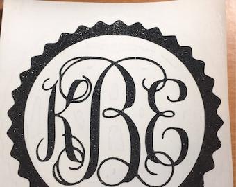 3X3 Vinyl Monogram Decals