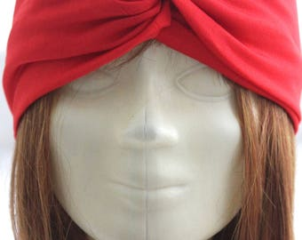 Buy 2 get 1 FREE! Boho Red Twist Headband, Yoga Headband, Twist Headband, knot headband, No-slip headband, running headband,summer headband