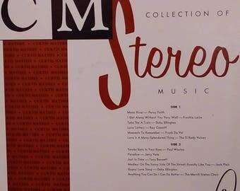 Vinyl LP Album 33 speed  Curtis Mathis Collection of Stereo Music - Frankie Lane, Percy Faith. Tony Bennett, Jerry Vale, Duke Ellington more