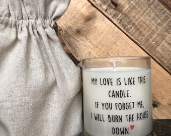my love is like this candle valentines gift husband gifts custom candle - Best Valentine Gift For Husband