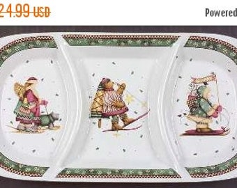 ON SALE Sakura SLEDDING Characters 3 Part Relish Tray