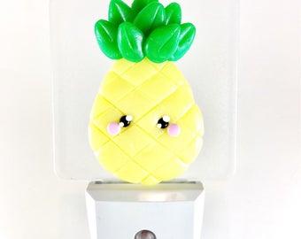 Night light kids night light, fimo pineapple, pineapple, room decoration, home, night light has del