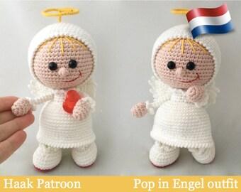177NLY Haak patroon - Pop in Engel outfit - Amigurumi PDF file by Stelmakhova Etsy