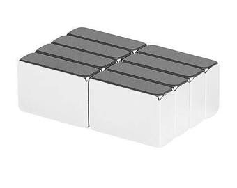 3/4 x 1/2 x 1/4 Inch Neodymium Rare Earth Block Magnets N48 (8 Pack)