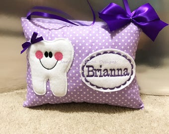 Tooth Fairy Pillow - Pocket Pillow - Baby Tooth - Gift for Girl - Birthday Gift -
